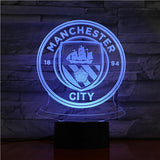 Manchester City FC Logo Lampe optique LED illusion 3D ⚽ - Ma Deco Maison