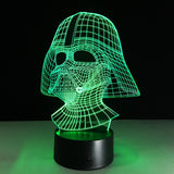 Dark Vador Star Wars Lampe optique LED illusion 3D - Ma Deco Maison