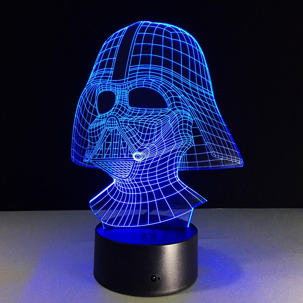 Led Dark Star Wars Vador Illusion 3d Optique Lampe fbgy67