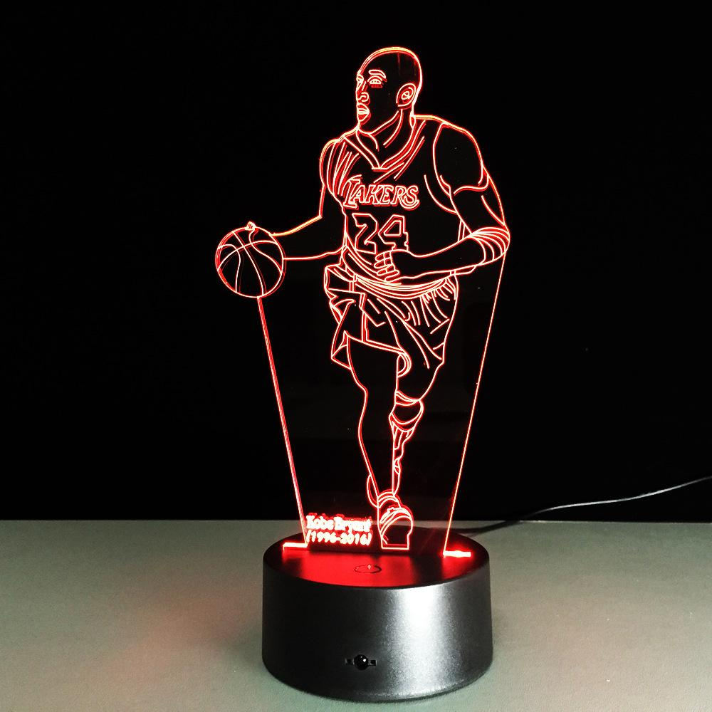 Kobe Bryant Lampe optique LED illusion 3D 🏀 - Ma Deco Maison