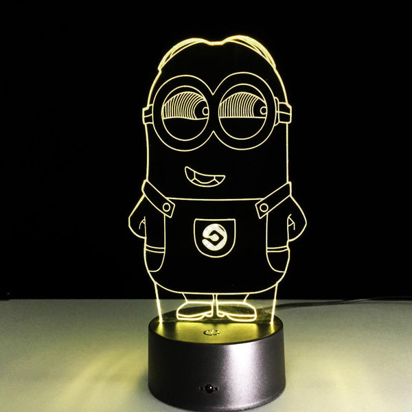 Minions Lampe optique LED illusion 3D - Ma Deco Maison