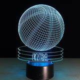NBA Basket-Ball Lampe optique LED illusion 3D 🏀 - Ma Deco Maison