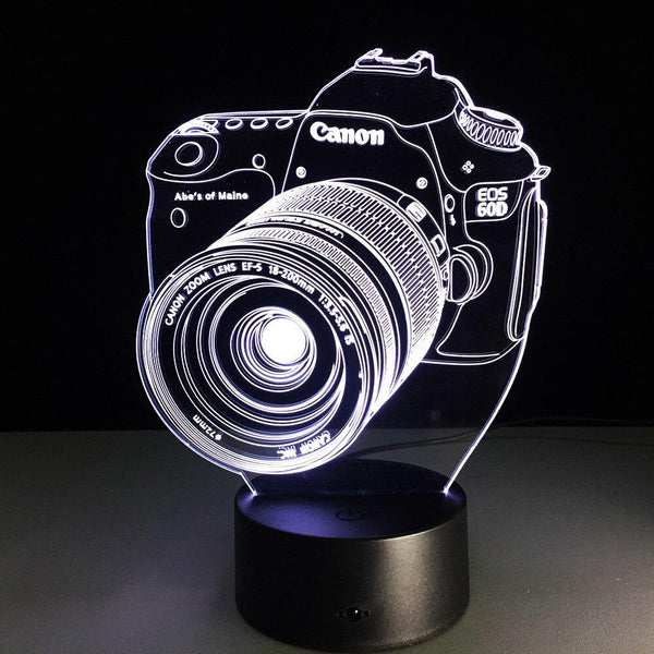 Appareil Photo Lampe optique LED illusion 3D 📸 - Ma Deco Maison