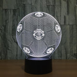 Manchester United Ballon Lampe optique LED illusion 3D ⚽ - Ma Deco Maison