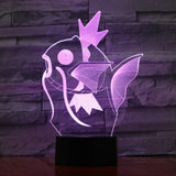 Magicarpe Pokémon Lampe optique LED illusion 3D 💧 - Ma Deco Maison