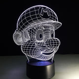 Mario Lampe optique LED illusion 3D - Ma Deco Maison