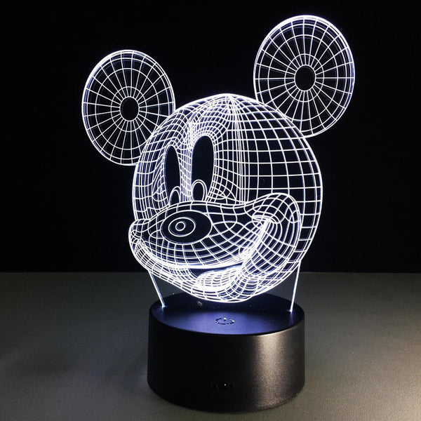 Mickey Mouse Lampe optique LED illusion 3D - Ma Deco Maison