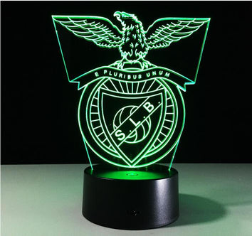 Benfica Lisbonne Logo Lampe optique LED illusion 3D ⚽ - Ma Deco Maison