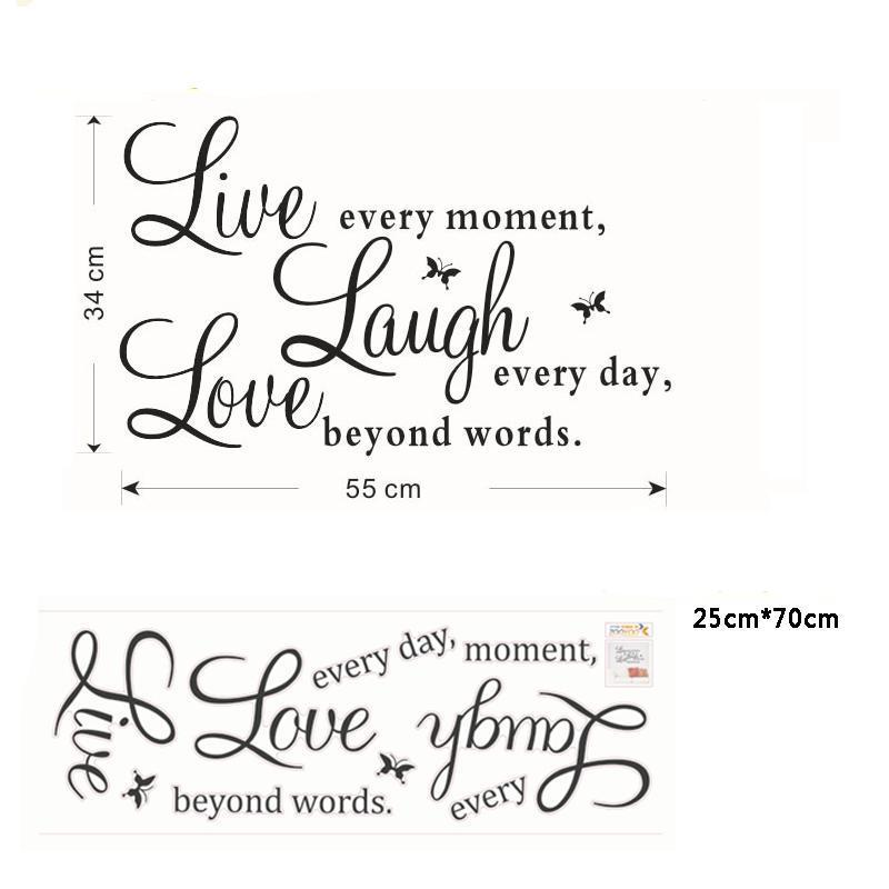 "Stickers Muraux ""Live Laugh Love"" - Ma Deco Maison"