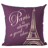 "Housse d'oreiller ""Paris is always a good idea"" #2 45 x 45 cm - Ma Deco Maison"