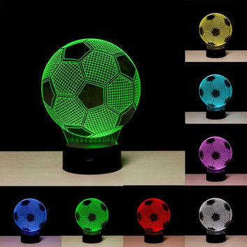 Ballon de Football Lampe optique LED illusion 3D ⚽ - Ma Deco Maison