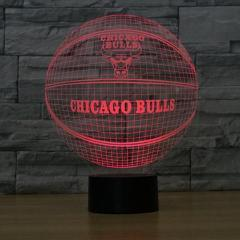 Chicago Bulls Lampe optique LED illusion 3D 🏀 - Ma Deco Maison