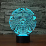 Ajax Amsterdam Ballon Lampe optique LED illusion 3D ⚽ - Ma Deco Maison