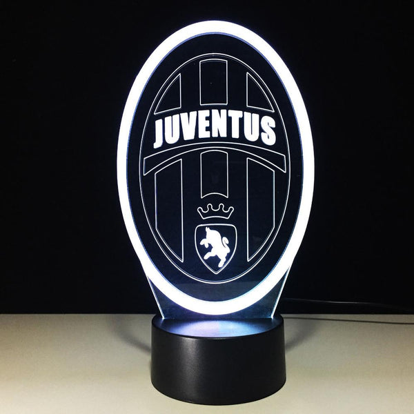 Juventus FC Logo #2 Lampe optique LED illusion 3D ⚽ - Ma Deco Maison