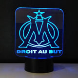 Olympique de Marseille Logo Lampe optique LED illusion 3D ⚽ - Ma Deco Maison