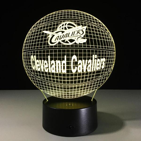 Cleveland Cavaliers Lampe optique LED illusion 3D 🏀 - Ma Deco Maison