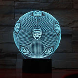 Arsenal FC Ballon Lampe optique LED illusion 3D ⚽ - Ma Deco Maison