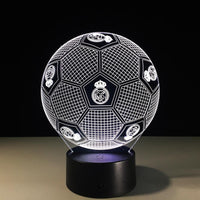 Real Madrid CF Ballon Lampe optique LED illusion 3D ⚽ - Ma Deco Maison