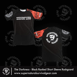Darkness Black Belt Ranked (IBJJF Approved) Rash Guard (Short-sleeve)
