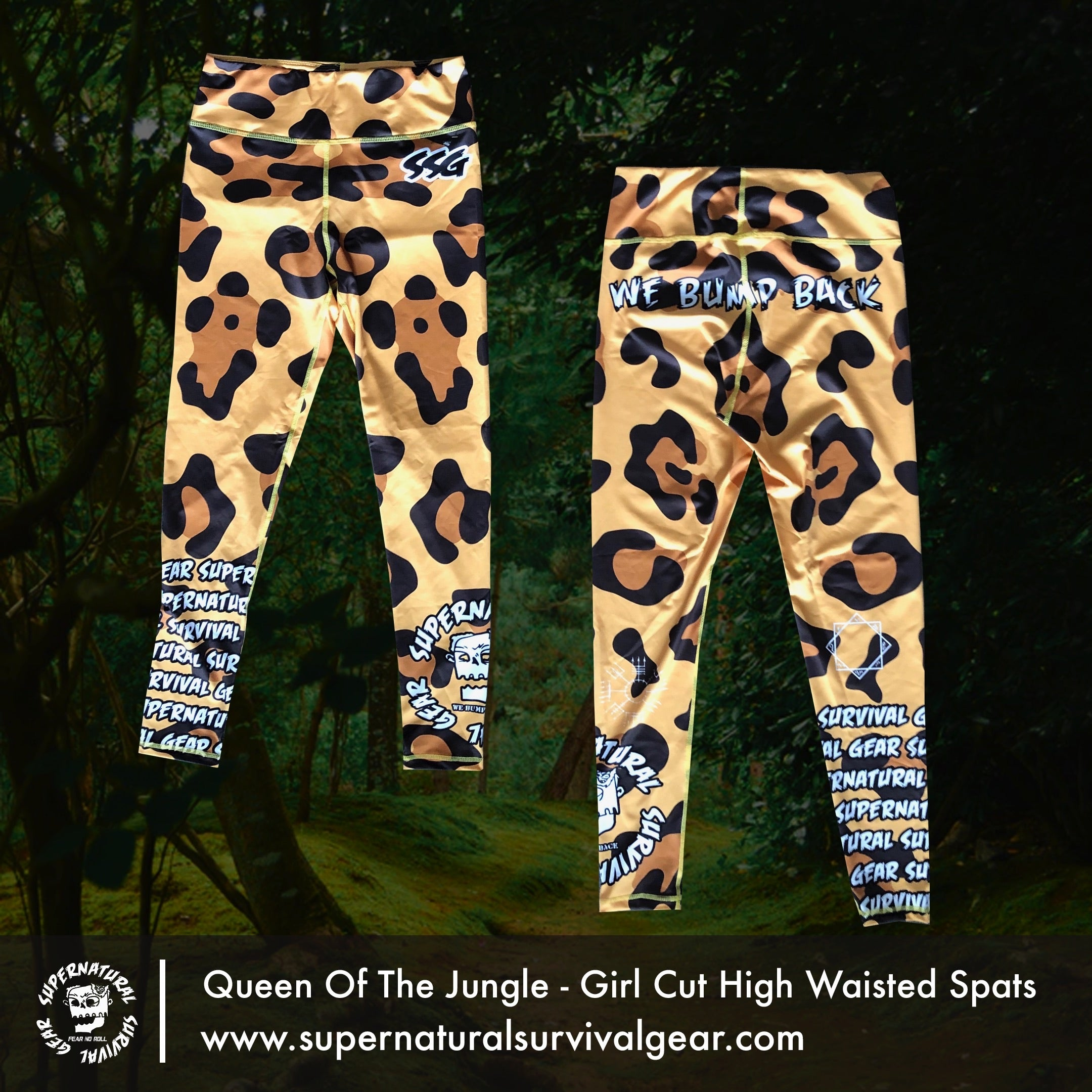 Queen Of The Jungle Woman's Cut High Waisted Spats