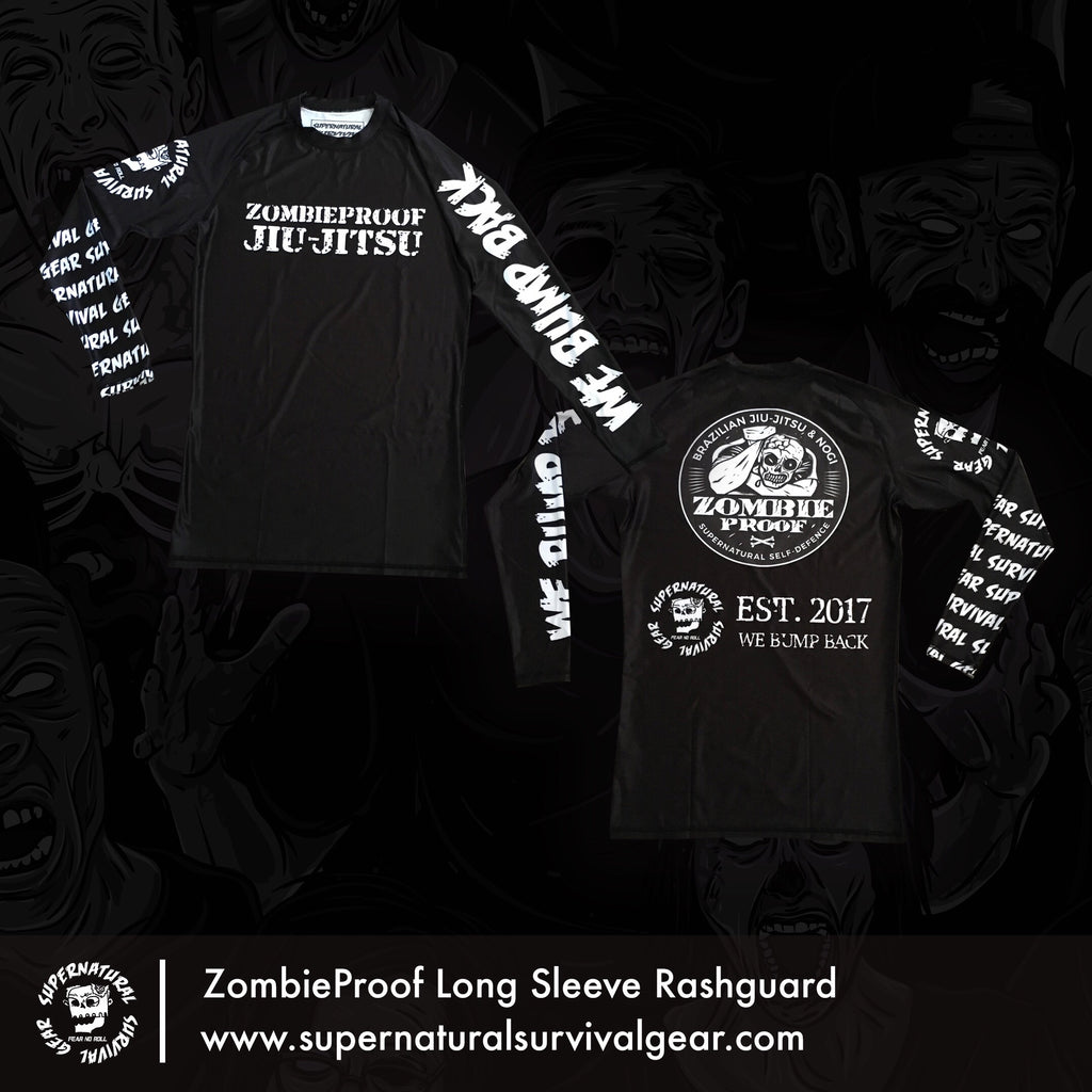 SSG x ZombieProofBJJ Black Sleeve Rash Guard (Long-sleeve)