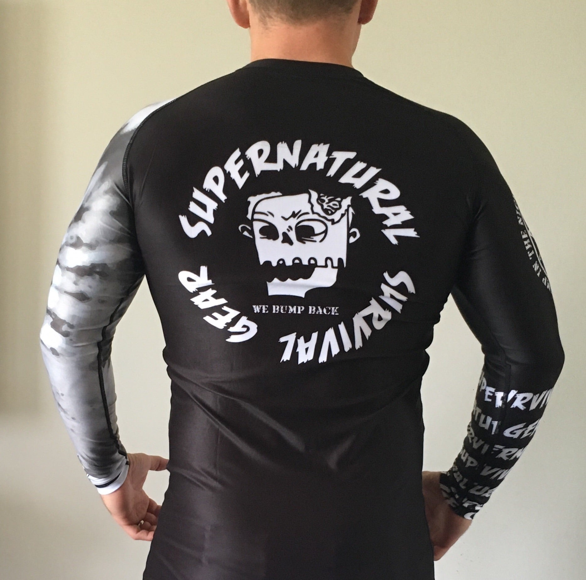 Darkness White Ranked (IBJJF Approved) Rash Guard (Long-sleeve)