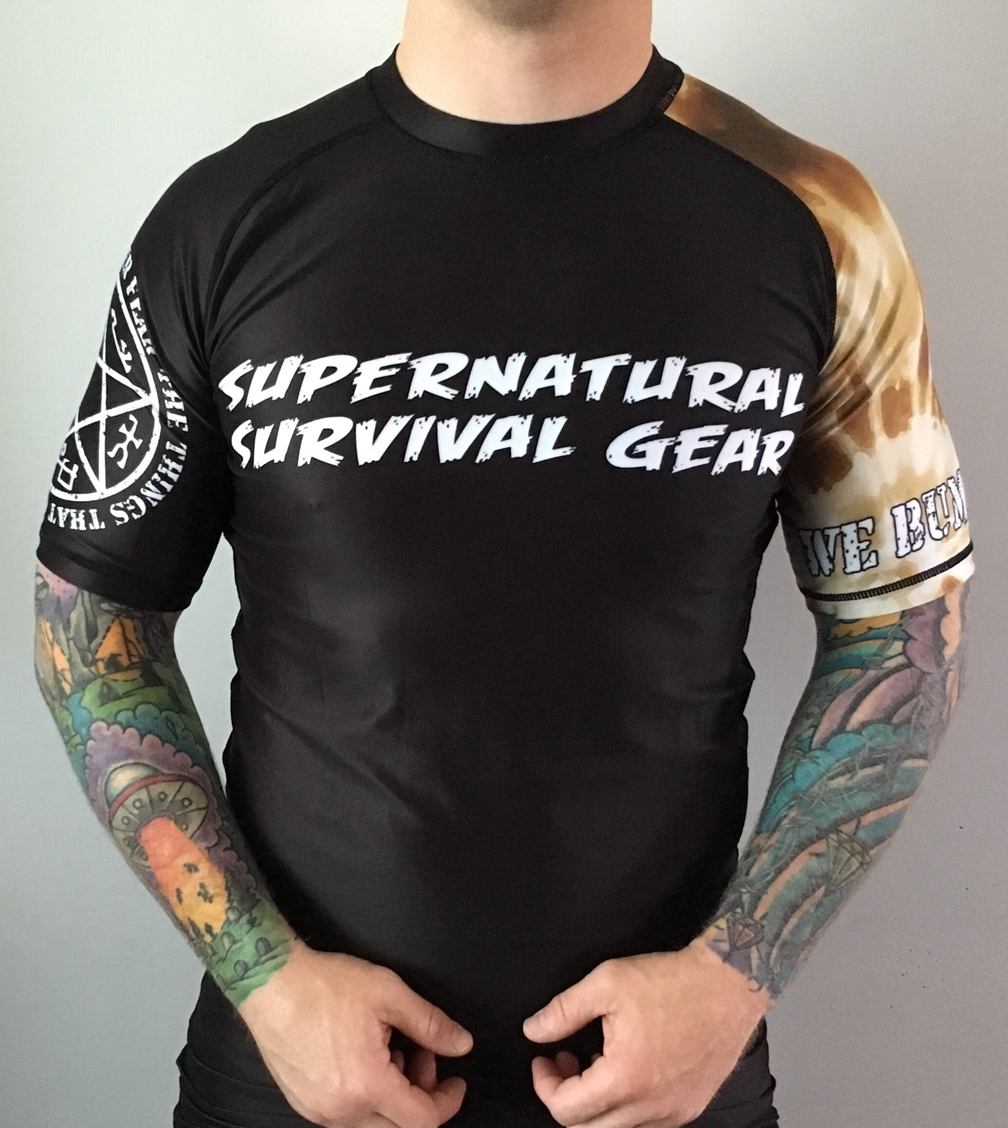 Darkness Brown Ranked (IBJJF Approved) Rash Guard (Short-sleeve)