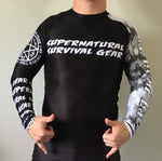 Darkness White Ranked Rash Guard (Long-sleeve)