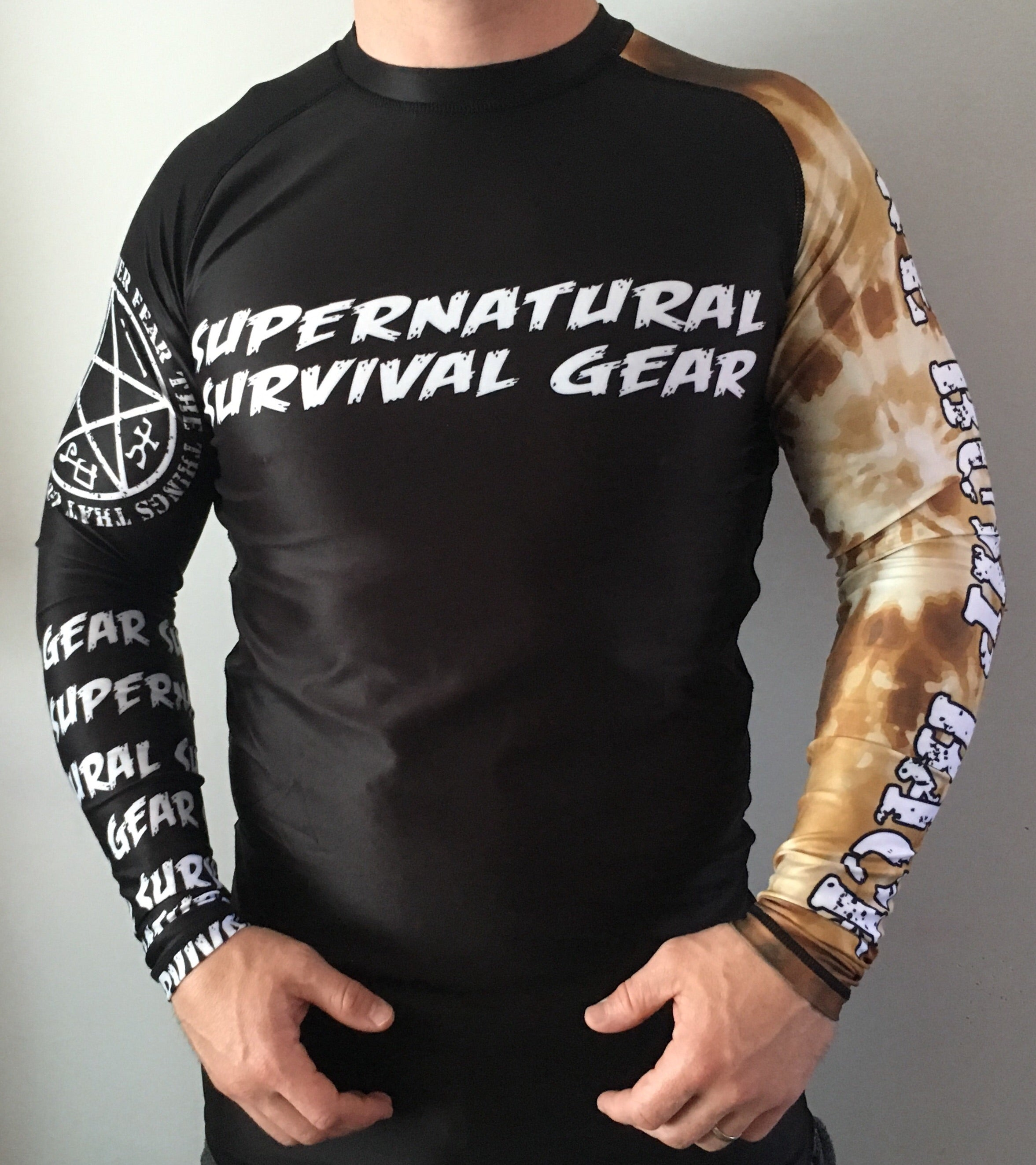 Darkness Brown Ranked Rash Guard (Long-sleeve)