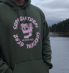 "Supernatural Survival Gear ""Pink On Green Original Hoodie"""