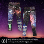 Woman's Cut High Waisted SpaceWoman Spats