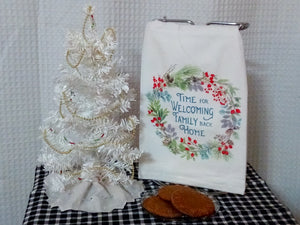 Flour Sack Towel - Time for Welcoming Family Back Home