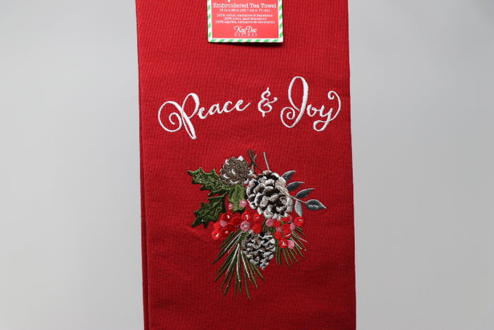 Peace and Joy - Tea Towel - CLEARANCE