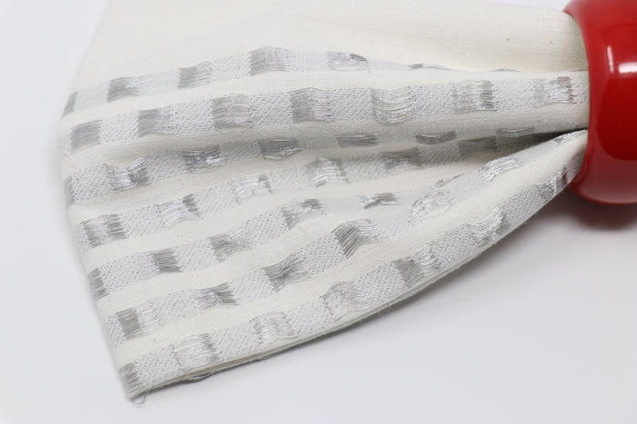 Napkin - Metallic Check, Silver - 4 Piece Set