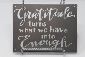 Metal Wall Art - Gratitude