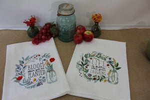Flour Sack Towel - (Bloom Series) Life is Better When You're Laughing