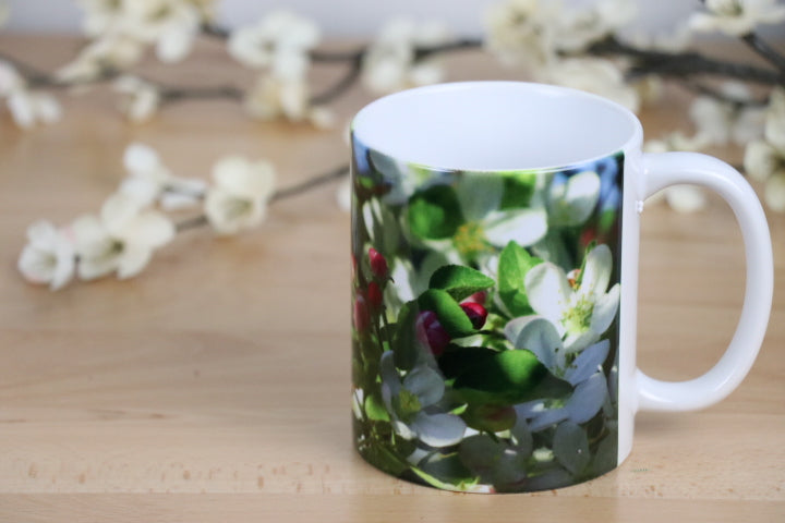 Coffee Mug - Apple Blossoms, Hello Sunshine
