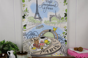 Kitchen Towel - (French Series) PARIS Cafe Gourmand