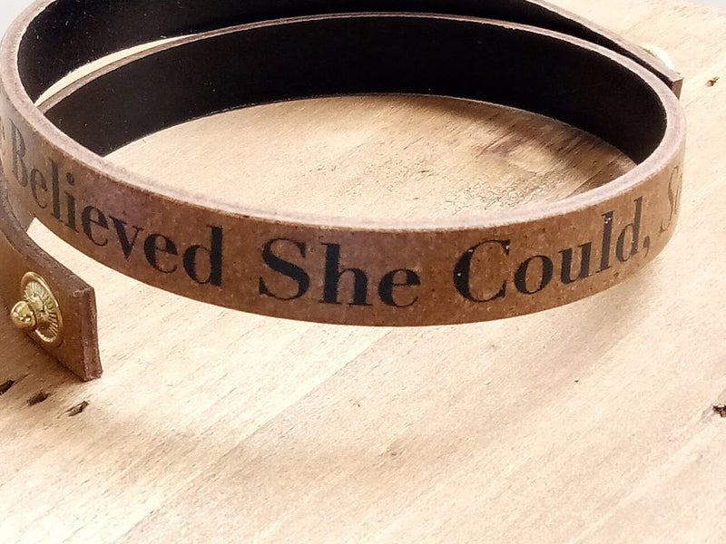 Bracelet - She believed She Could So She Did