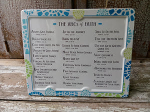 Plaque - ABC's of Faith