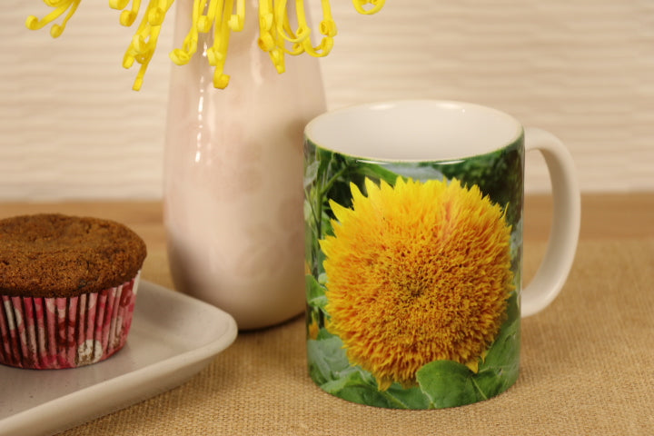 "Coffee Mug - Sunflower ""Hello Sunshine"""