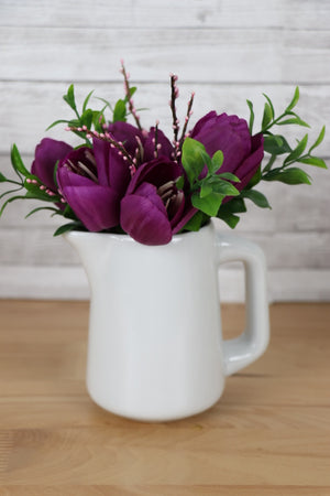 Floral Centerpiece - Porcelain Pitcher