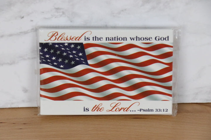 Magnet - American Flag, Blessed nation