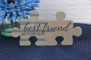 Plaque - Puzzle Piece, best friend