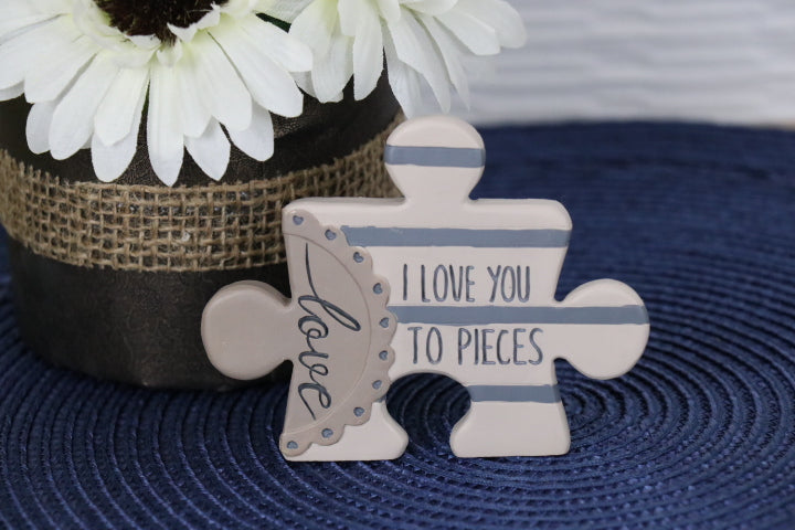 Plaque - Puzzle Piece, love you to pieces