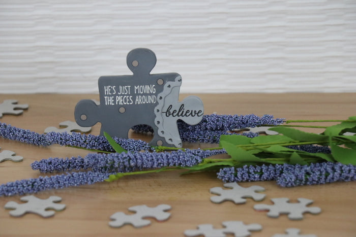 Plaque - Puzzle Piece, believe