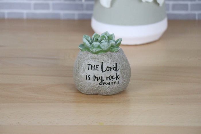 Boulder - Succulent, The Lord is my Rock