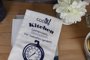 Flour Sack Towel - Kitchen Conversions, Cobalt Blue