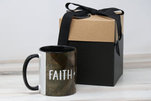 Coffee Mug - FAITH, LOVE, HOPE . . . Black