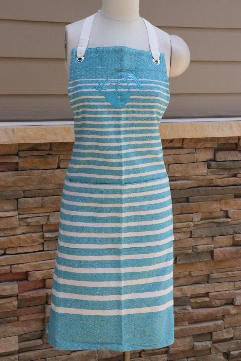 Apron - Cook's, Teal/Ivory